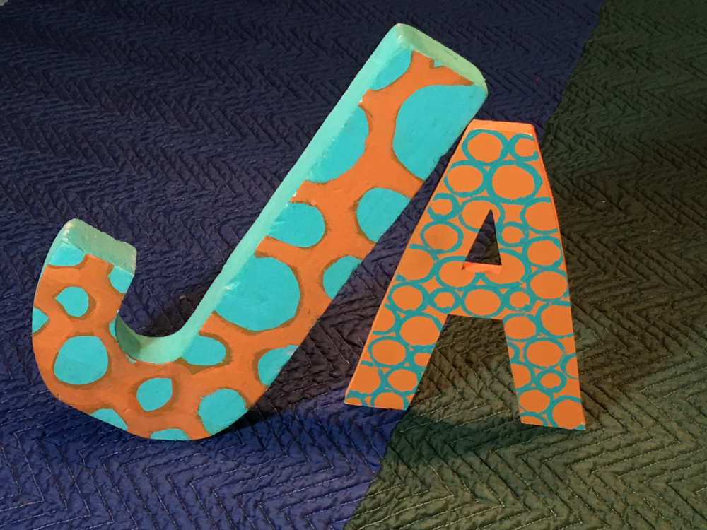 """J"" and ""A"" - Letters Created for ""Sesame Street"""