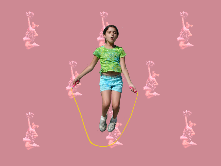 Girl Jumping Rope by Jane Aaron