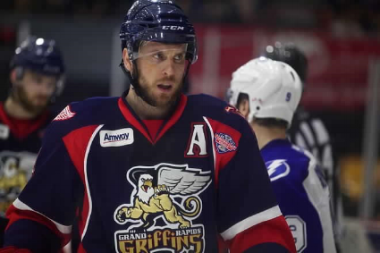 Nathan Paetsch now plays with the Grand Rapids Griffins