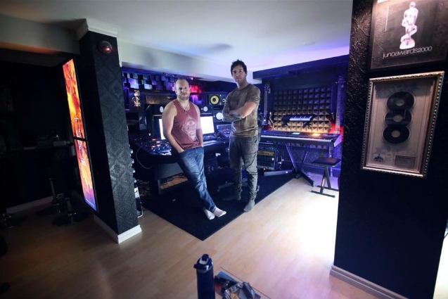 Nicholas in the studio with Jared Robinson