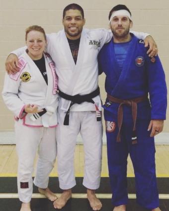 Jessica Church, Andre Galvao and Coach Jason Church, from Control Jiu-Jitsu