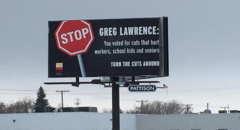 Billboard, on Thatcher St., near Peavy Mart