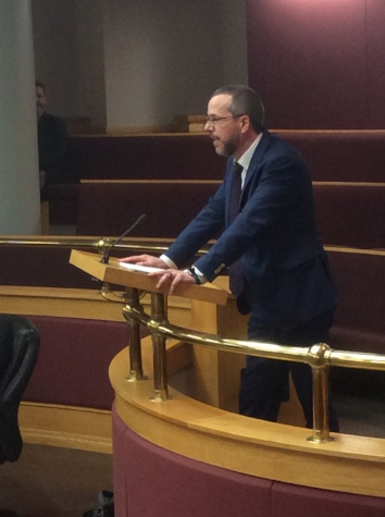 Graham Edge addressing City Council