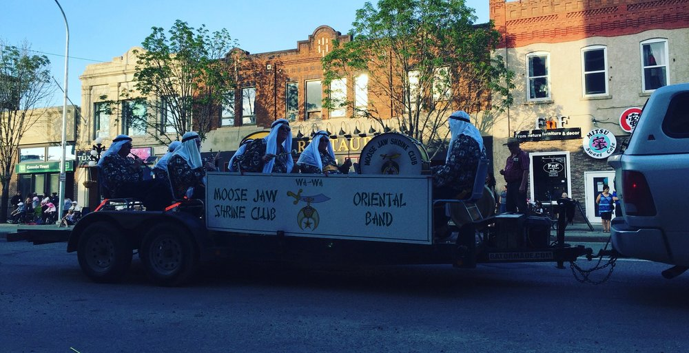 Always a parade favourite, The Moose Jaw Shrine Club spared zero effort in providing fun.