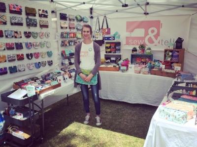 From Regina, Sarah Stasiak runs  Sew & Tell . She designs women's accessories, like change purses, oven mitts, passport holders and planters.