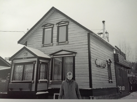 Me outside the Robert Service house in Whitehorse.