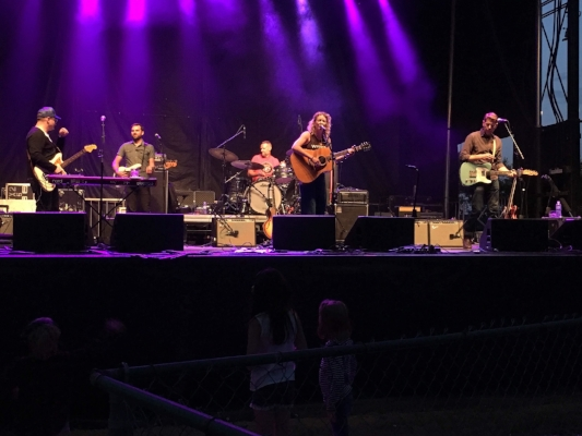 Kathleen Edwards was as cool as ever. Playing Bengough into the dark night.