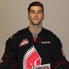 The next time you'll see Brandon Schuldhaus is when the Saskatoon Blades come to town