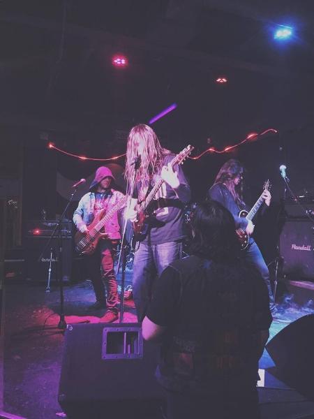 Scythra playing the Black Mourning Light Metal Festival in Edmonton