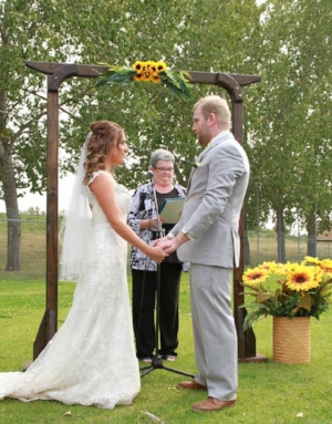 Marrying my wife at Memorial Field