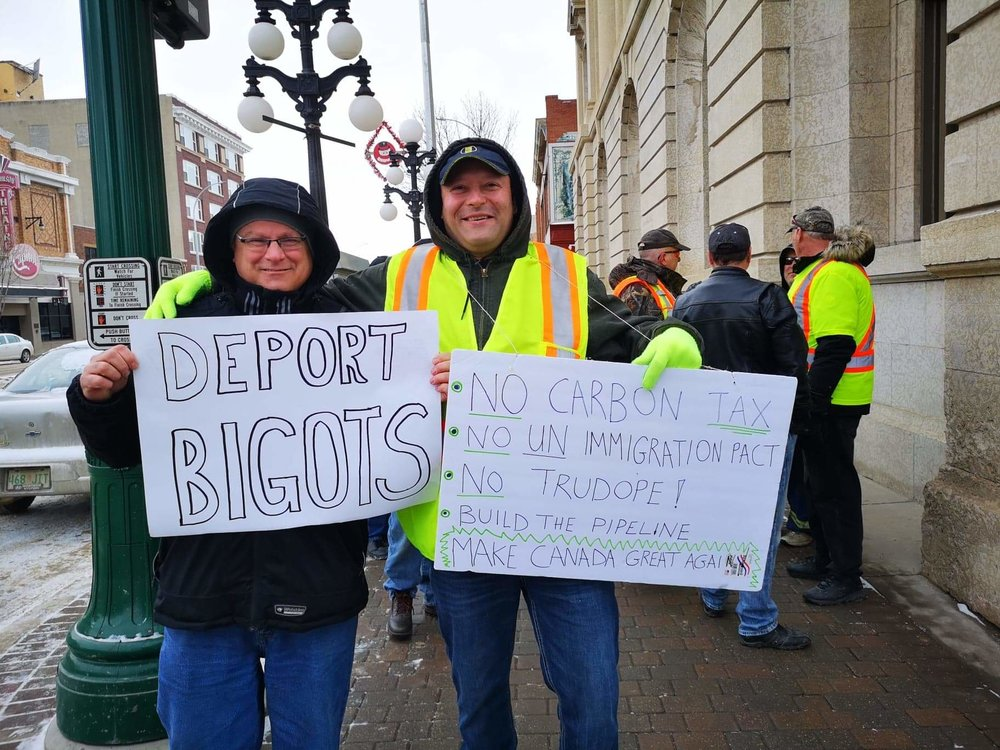 Despite differences of opinion the rally was not overly confrontational - Nick Murray photo