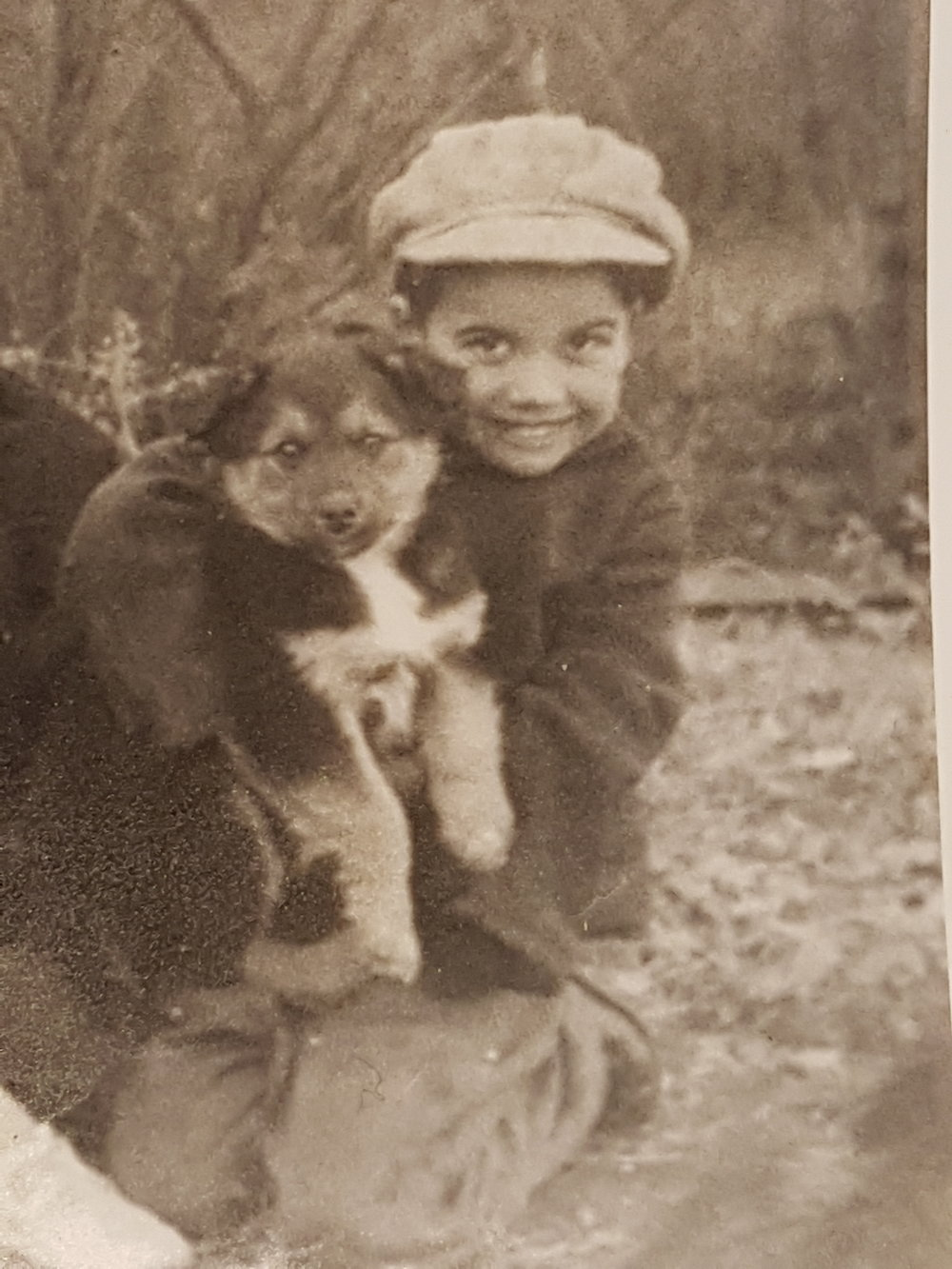 Warren Michelson as a young boy on the farm - supplied photo
