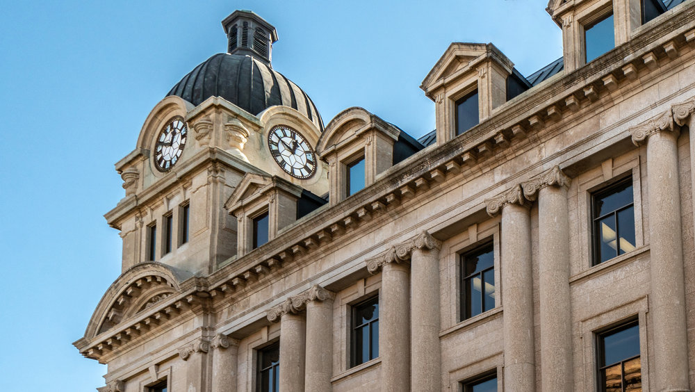 City Hall's clock tower bell will remain silent - Photo By Roxanne Ashe - Virtual Interiors Photography