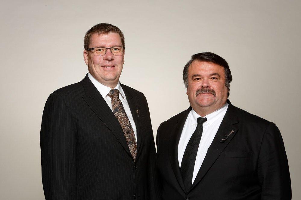 Premier Scott Moe and MLA Greg Lawrence - photo supplied