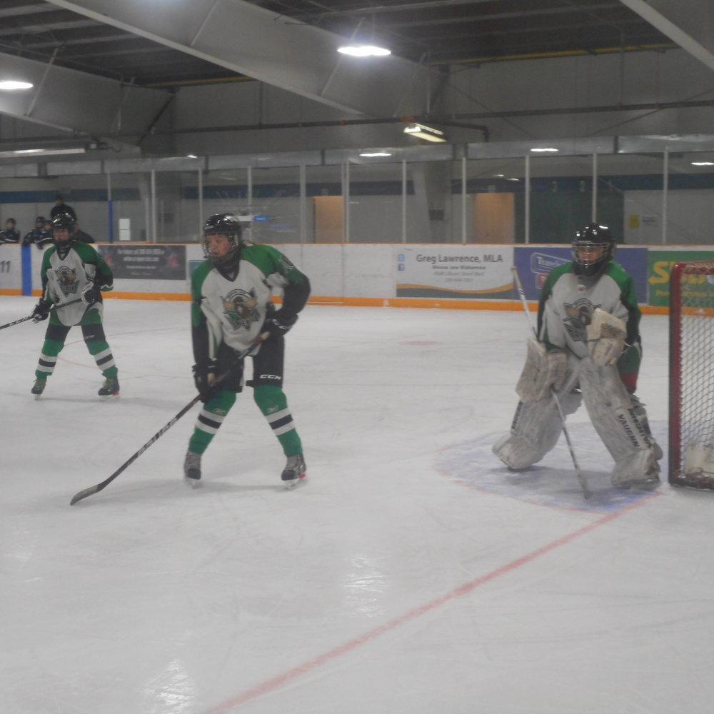 First Period Action at the Kinsmen Arena