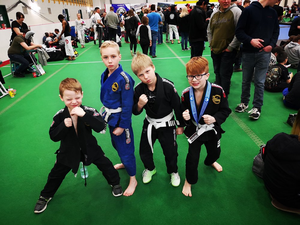 From Left to Right: Zackary Wilgosh, Roque Spaan-Murray, Grady Diguer (From Diekema Martial Arts in Saskatoon) and Paxton Nelson.