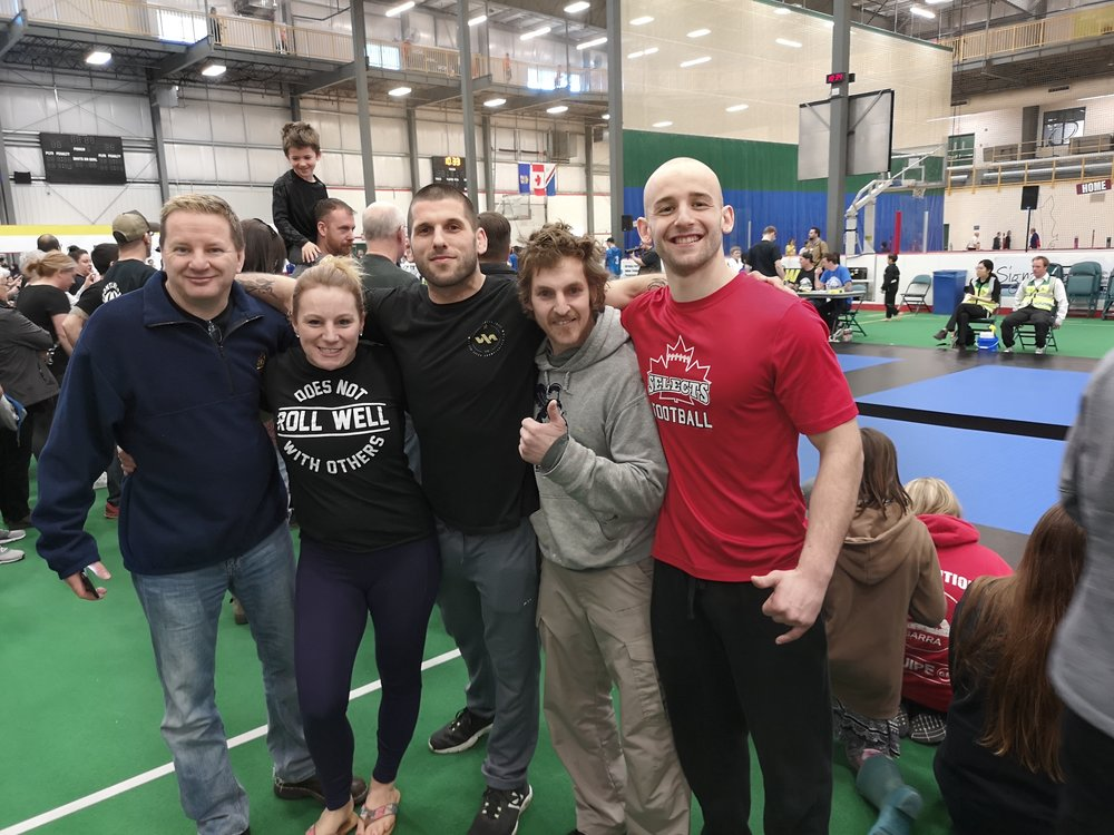 Left to Right: Jeff Nelson (Did not compete), Jessica Church, Seylor Giroux, John Precepa