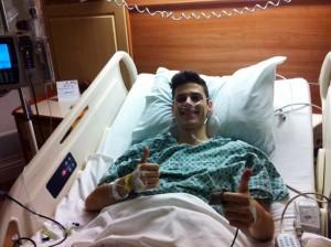 Ken in the hospital