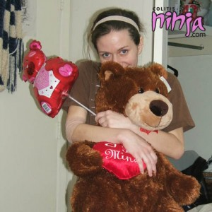 Me and my Valentine goodies after getting my blood transfusion.