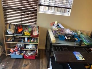Desk Area After Organization