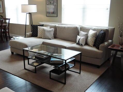 Some of the Norwalk Furniture now gracing client's homes... A sectional with a chaise lounge end.