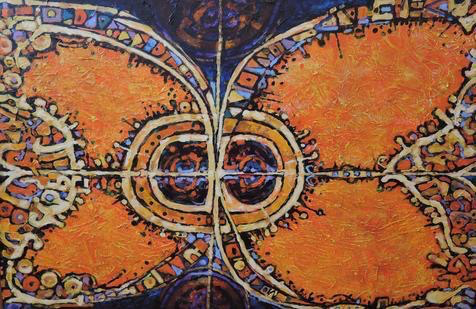 Acrylic on canvas, Ed Cebula