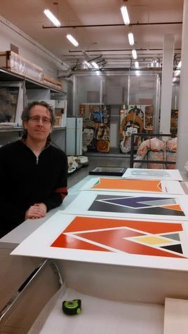 Arnie Tunstall, Collections Manager at the Akron Art Museum.