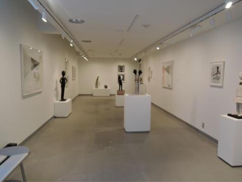 This is The Mary S. and David C. Corbin Foundation Gallery, shown with the then-current exhibition. In February, Karen Starr and local furniture and lighting makers will transform the gallery into living spaces.