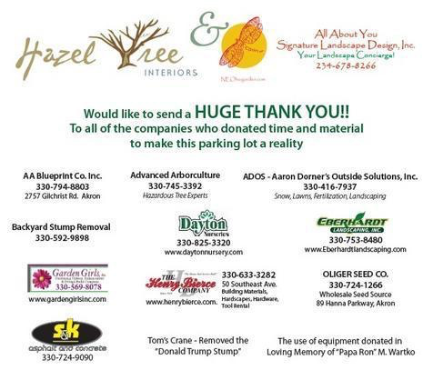 All of the wonderful companies that donated to the project!