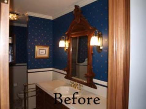"The ""His"" Master Bath ""Before"" Picture."