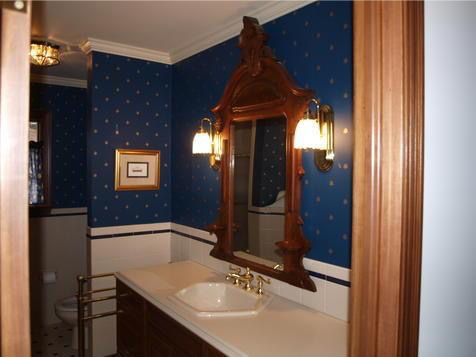 "Before picture 5: ""His"" Master Bath"