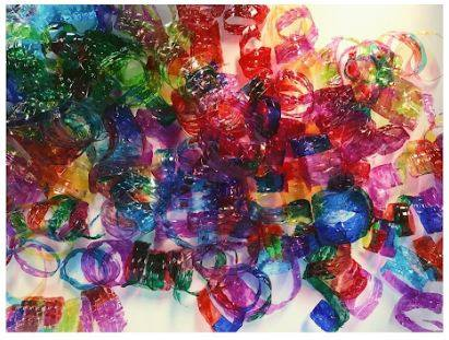 Photo of Chihuly-esque ornament components made by Jennifer Davis and her students, courtesy