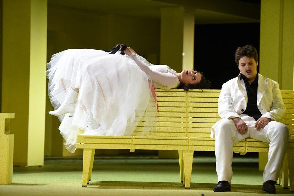 Katharina Konradi, Benjamin Russell - Don Giovanni, Staatstheater Wiesbaden 2018 -Foto: Karl & Monika Forster