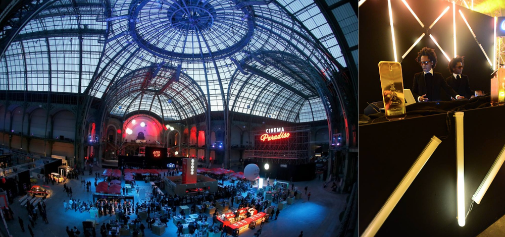 Cinema Paradiso by MK2   :  Dj performance at Grand palais in Paris for Paco Rabanne openight night (Puig Group).     Pirelli calendar reveal by Helmut Newton   :  Video synchro and live show at palais de Tokyo.    And many more...