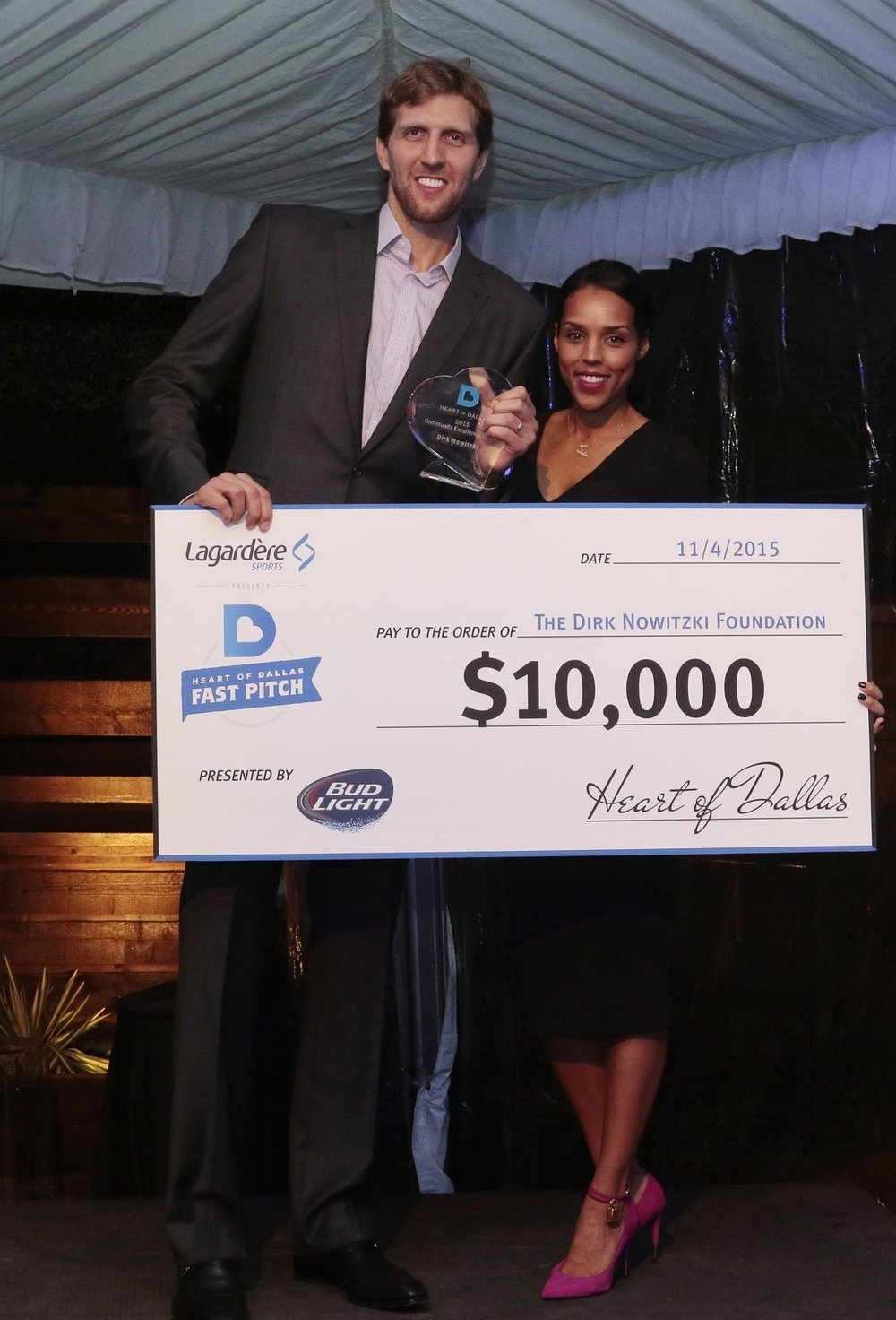 """[Fast Pitch] is a terrific event that helps shed light on what local nonprofits do for the city of Dallas. Being in sports allows us to give back in ways that many cannot. It was an honor to be the first recipient of the Community Excellence Award."" - - Dirk Nowitzki"