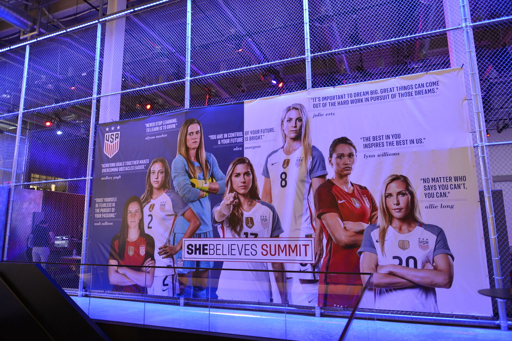 The SheBelieves Summit took place at the Nike NY Headquarters on March 3, 2018.