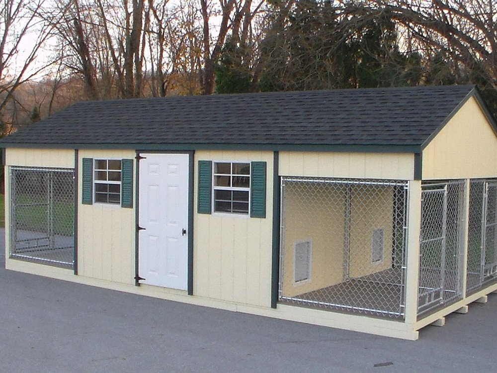 12x24 Quadplex Dog Kennel