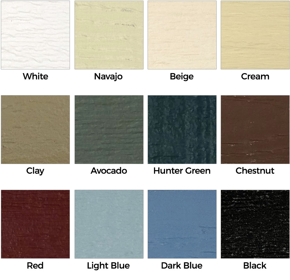 Dog Kennel Color Chart