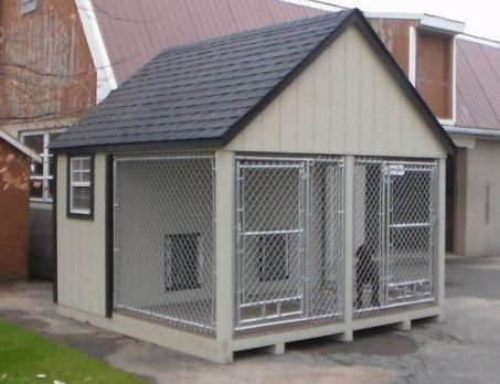 10x10 Duplex Dog Kennel