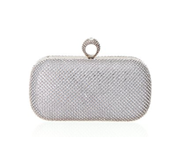 Rhinestone Clutch - A classic rhinestone clutch with a twist - the closure is a sparkly ring as well! Buy it here