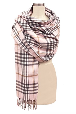 Plaid - I love a classic plaid or tartan and this one is beautiful! Its available in so many colours but the pink would look so pretty with my camel colored coat that I wore today so I'm featuring it. Buy it here