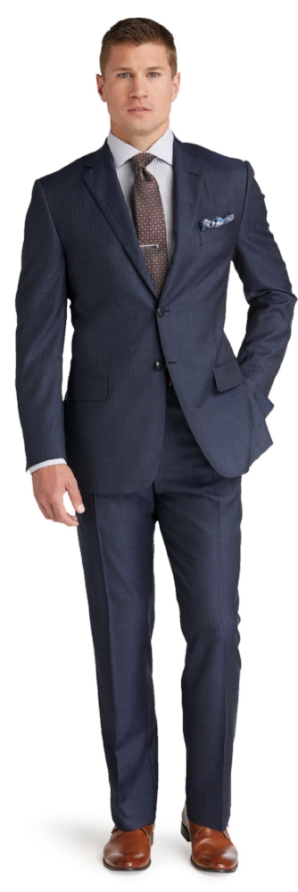 The Suit - This suit is very similar in colour and I personally love working with Jos A. Bank. They are a great company and I've never heard any issues with their tailoring. Get it here
