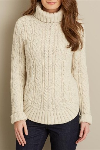 The Original - This sweater is really the most accurate to the original cable knit sweater. This is a wool blend so the care is a little more difficult but its beautiful and definitely a great piece. Buy it here