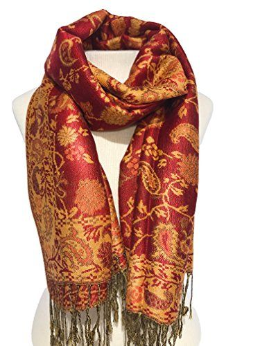The Look for Less - Most of the pieces above are pretty affordable but I wanted to find a scarf similar to mine that was under $9. This red and gold silk-blend scarf looks and feels rich but is only $8.99! Buy it Here!