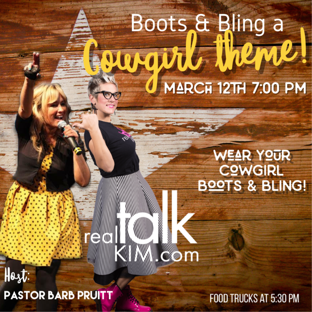 Real Talk Kim - Boots & Bling a Cowgirl Theme
