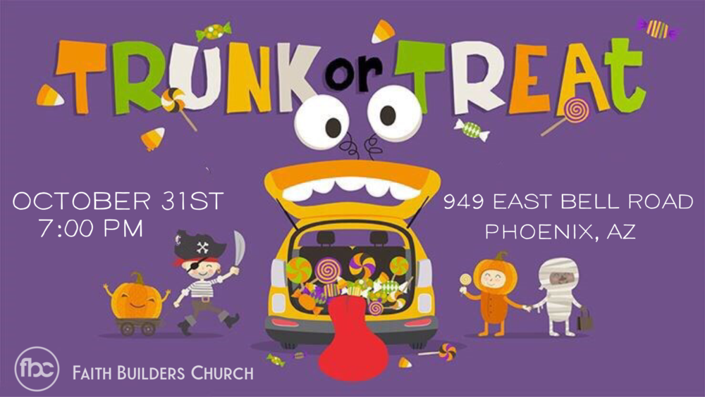 Trunk or Treat - Wednesday, October 31st 7:00 pm