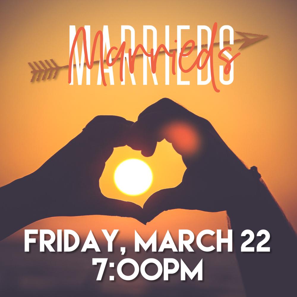 Marrieds Night - Friday, March 25th 7:00 pmPastor Matt & Ginger McLamb's Home5541 West Saguaro DriveGlendale, AZ 85304