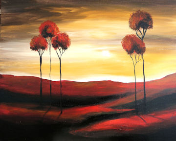 Red Tree Sunset