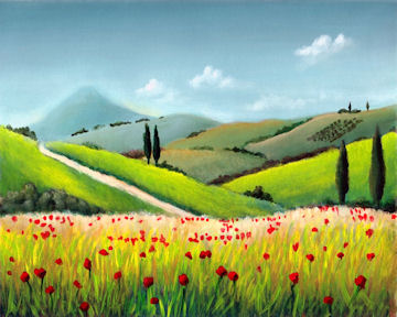 Tuscan Poppy Meadow
