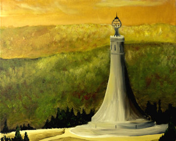 Greylock Monument from Above